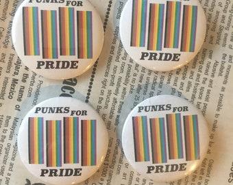punks for pride button