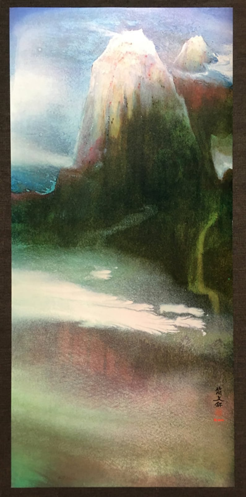 Diana Kan Mixed Media Fantasy Landscape Signed Limited Edition Lithograph