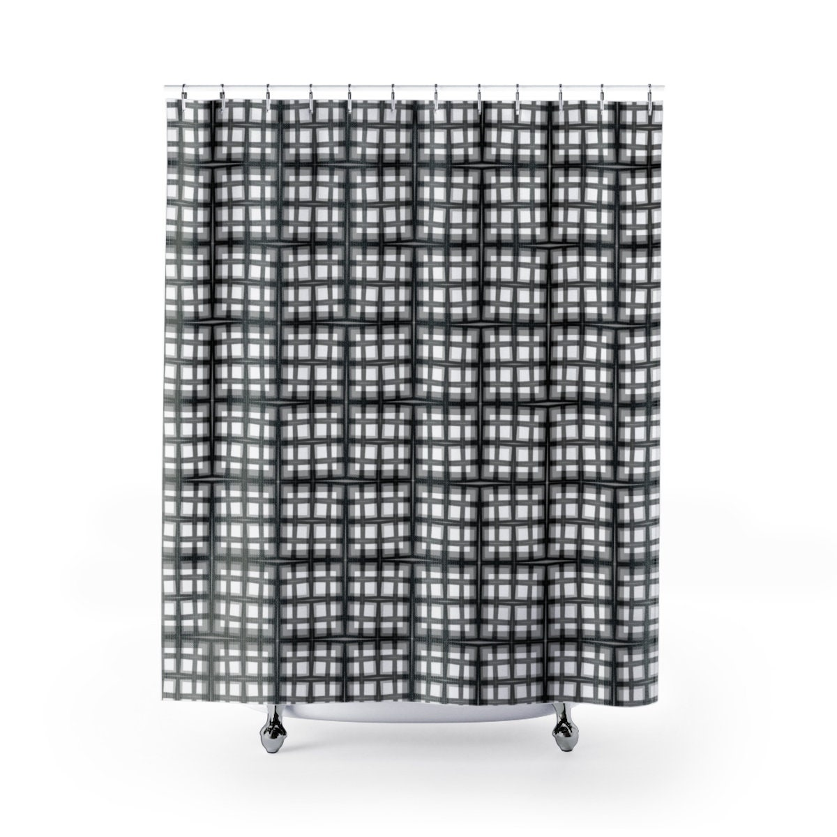 Chopped Plaid Cloth Shower Curtains A Classic With A Twist Classy Unique Pattern Is Suggestive Of Windows Perfect For Any Bathroom