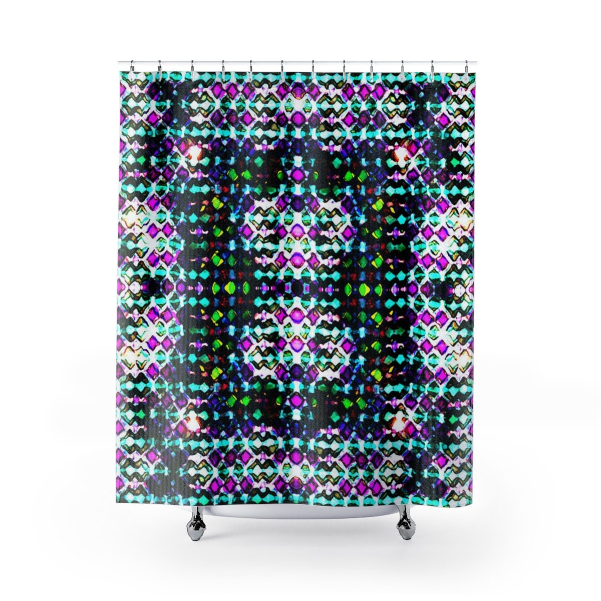 Crown 8 Cloth Shower Curtains Regal Inspired Dynamic Print Moderately Busy Design Colorful But Not Garish Great Gift