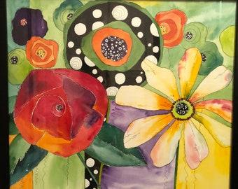 Three Funky Flowers