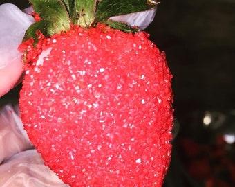 Chocolate ganache strawberries