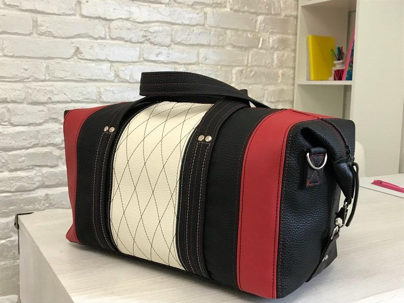 249375124b33 Weekender bag Red travel bag White Gym bag Overnight