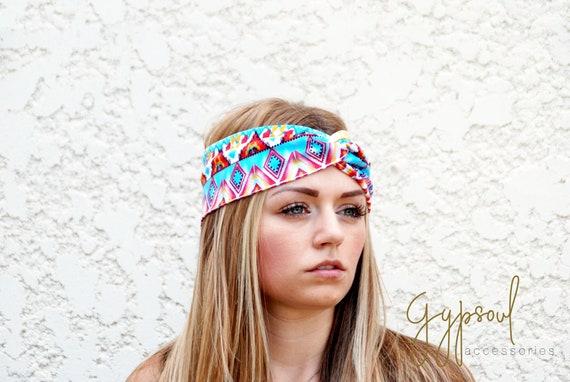 On a Summer Day Twist Headband Bright Colours Faux Turban  01e3809ba1e