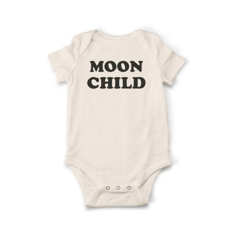 f7fdaa006 Moon Child Baby Bodysuit Organic Baby Clothes Unisex Baby | Etsy