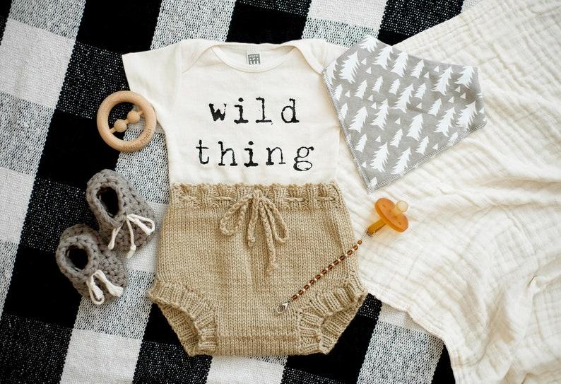Wild Thing Bodysuit Unisex Baby Clothing Organic Baby Clothes Baby Shower Gift Boho Baby Newborn Gift Gender Neutral Bodysuit