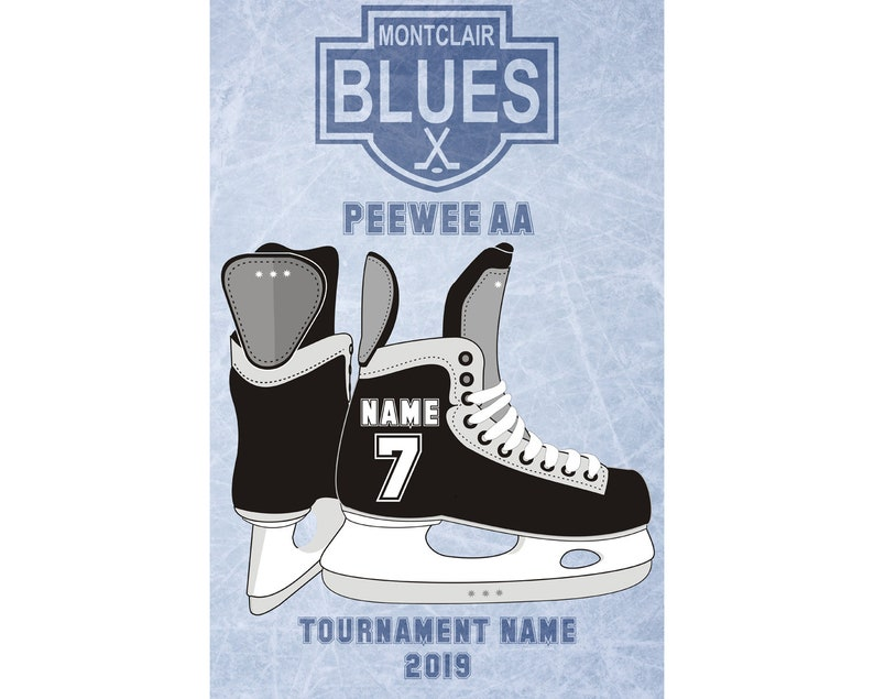 Hockey Tournament Door Signs Personalized With Name Jersey Etsy
