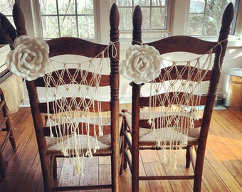 Macrame chair hang