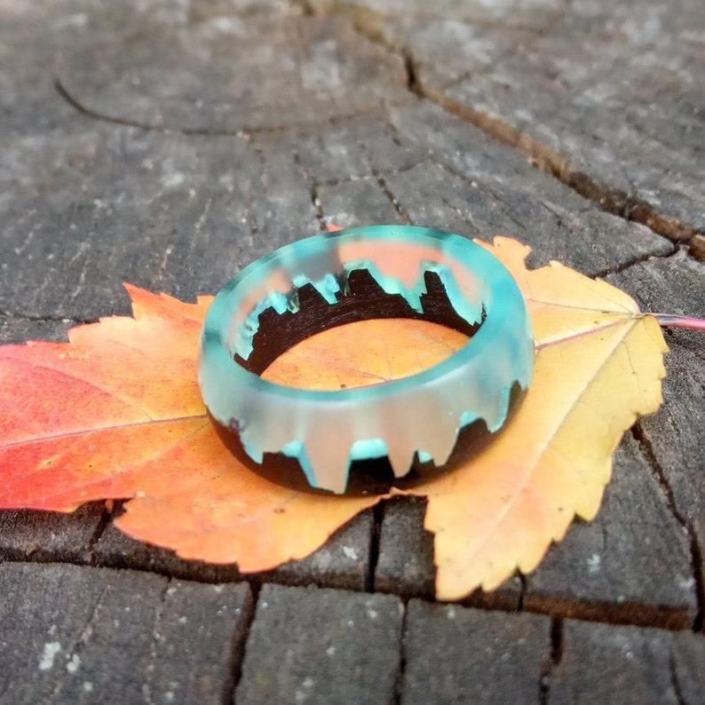Wood Ring for Women Mens Resin Ring Resin Rings for Men Wood Resin Ring Mens Wood Ring Mens Resin Wood Ring Womens Wooden Ring