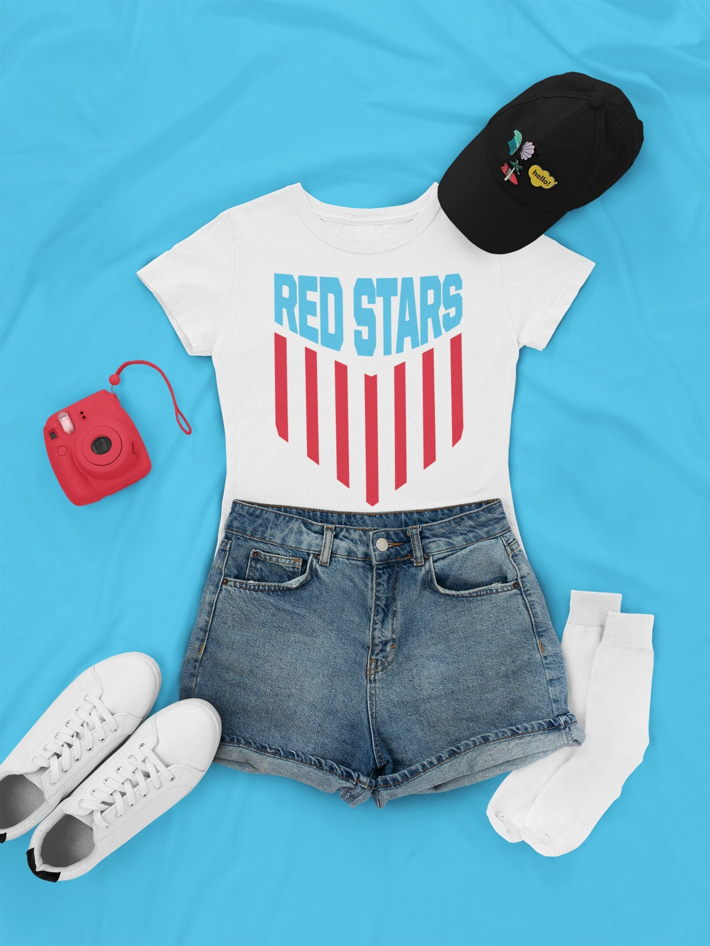 Chicago Red Stars Soccer Shirt Chicago Womens Team Usa Flag Design Jersey Unisex Tshirt