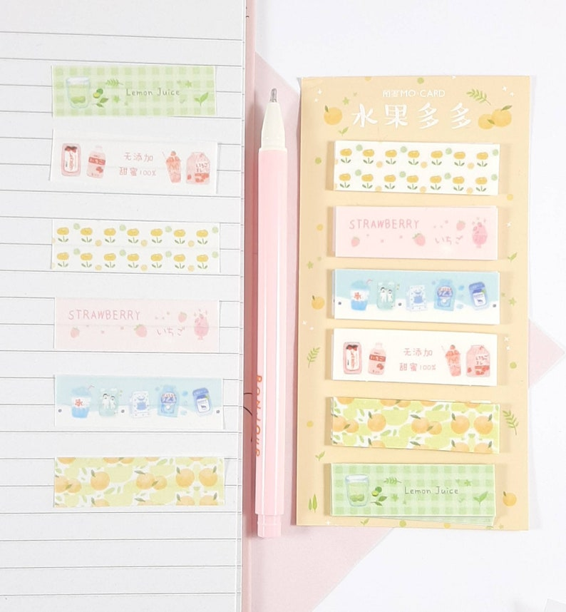 Fruit and Flowers Washi Tape Strips