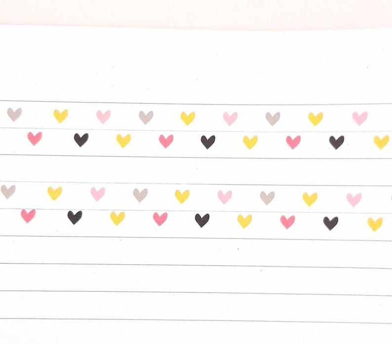 Heart Washi Tape Journal Planner Multicoloured Heart Washi Tape Scrapbooking