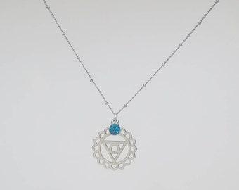 Throat Chakra Pendant Necklace