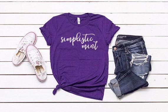 Womens Shirt Mockup SVG Mockup Purple Blank Shirt Mock Up 3001 Mockups Team Purple 3001 Mockup Purple Bella Canvas Mock Up