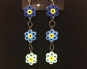 Flower Dangle Earrings **Many Colors Available* **Customizable**