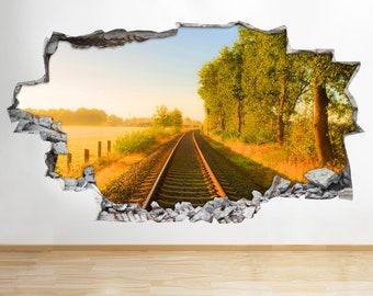 Wall Stickers Train Track Toy Boys Nursery Window Decal 3D Art Vinyl Room C386