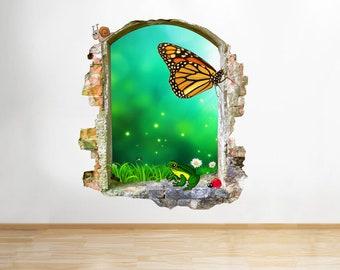 Q066w Fairy Butterfly Kids Bedroom Window Wall Decal 3D Art Stickers Vinyl Room