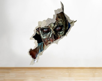 R659 Zombie Horror Scary Face Bedroom Cool Wall Decal 3D Art Stickers Vinyl Room