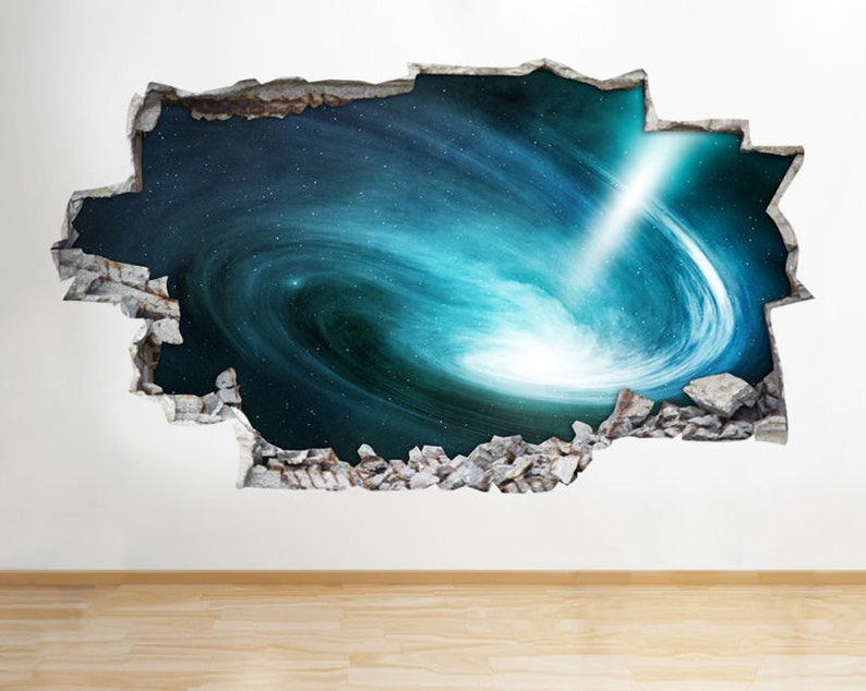Wall Stickers Space Nebula Galaxy Universe  Bedroom Girls Boys Room Kids F327