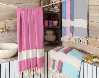 Wave Peshtemal Towel Blue Beach - Bath