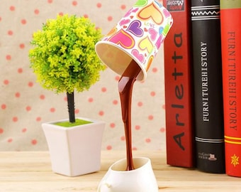 Pouring Coffee Cup Lampshade