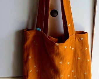 Tote bag in double gauze fabrics to choose from