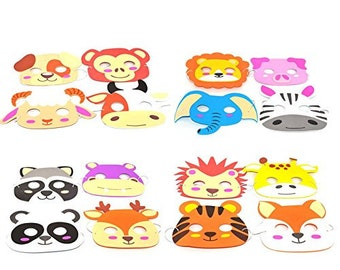 Kids Animal Masks Etsy