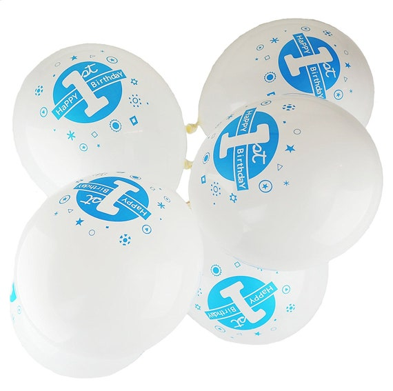 """Stag Night 12/"""" Printed Blue /& White Assorted Latex Balloons pack of 8"""