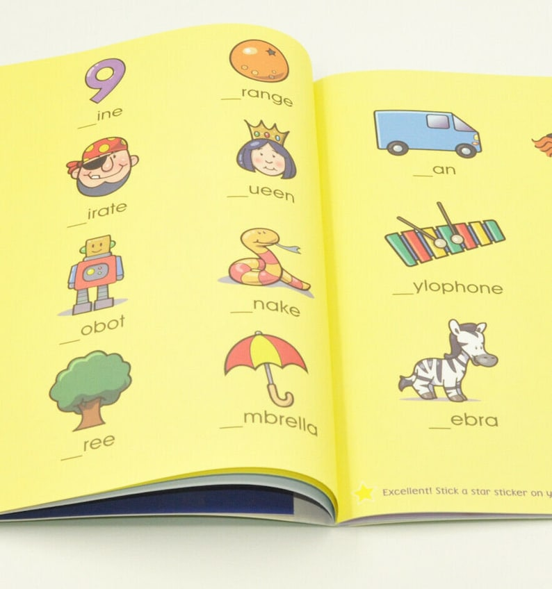 1x A4 Kids Snappy Learner Spelling Activity Book Puzzle Books Education Travel Game Writing Brain Puzzles Child Learning Words Letters