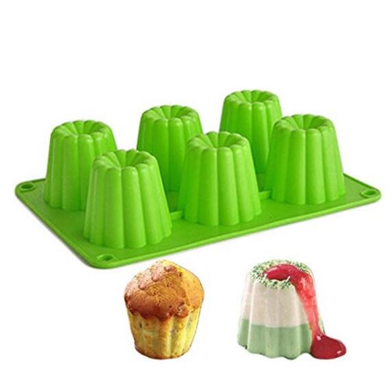 Silikon Backform 6 Herzen Muffin Liebe Kuchenform auch für Pudding Dessert Eis
