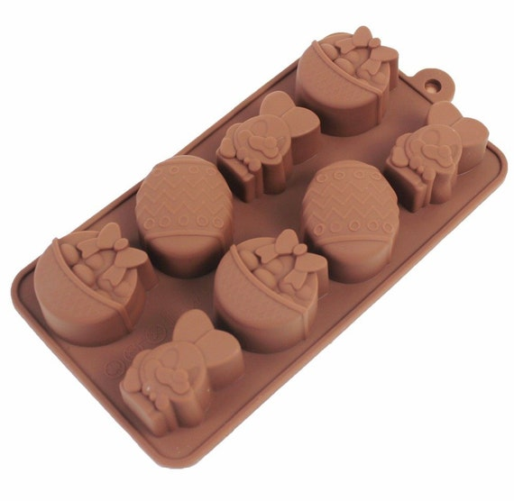 12 Easter Egg Bunny Shape Silicone Chocolate Mold DIY Baking Cake Cookies Mould