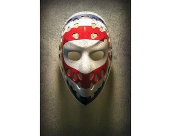 Dryden Mask Poster or Metal Print - Montreal Canadiens Wall Art Decor - Hockey Goalie - Ken Dryden - Photo Print - Gift - Unframed