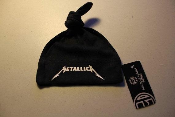 Metallica Spill Em All Black Newborn Infant Baby Rock and Roll Creeper Romper