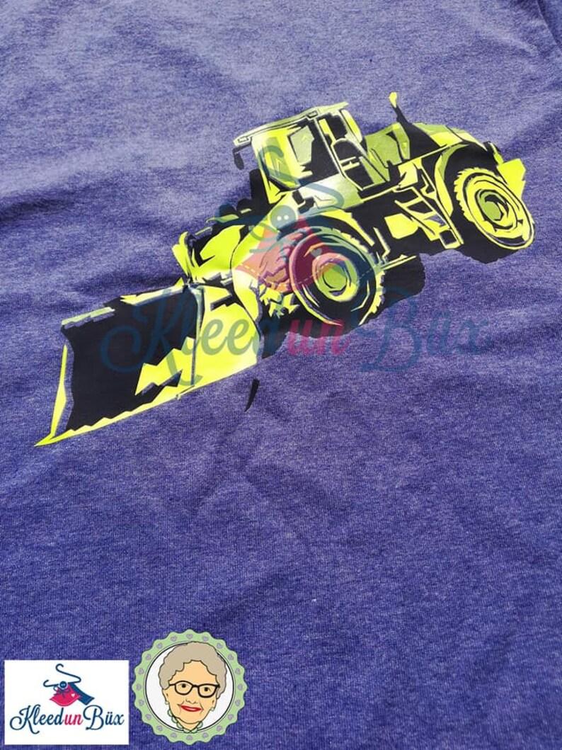 mehrfarbige Plottdatei Baustellenfahrzeug von Oma Plott Plotterdatei Radlader Schneiden Datei SVG JPG DXF Silhouette Studio