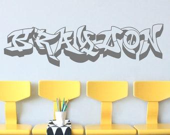 Wandtattoo Graffiti Etsy