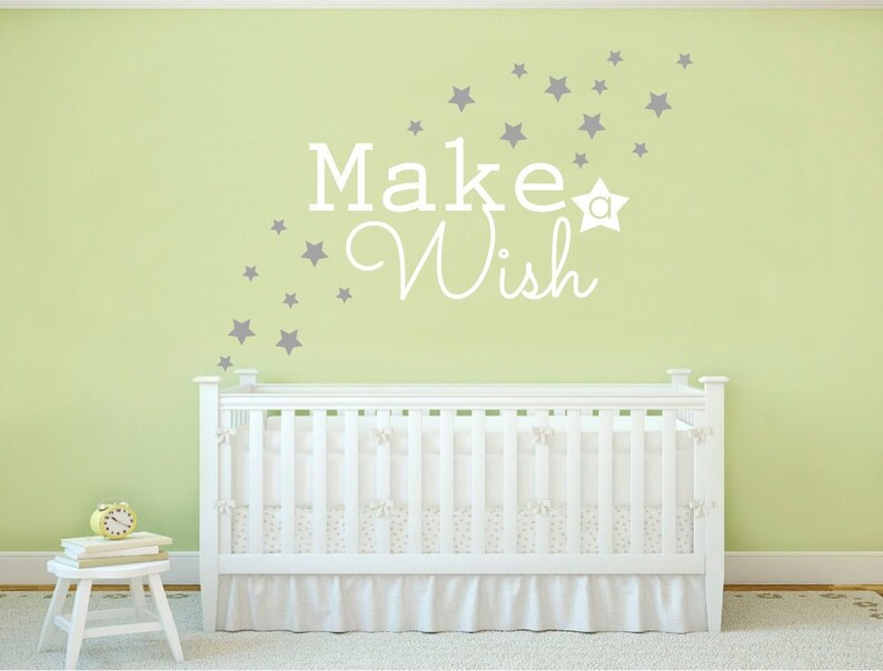 make a wish wall sticker make a wish wall decal make a wish | etsy
