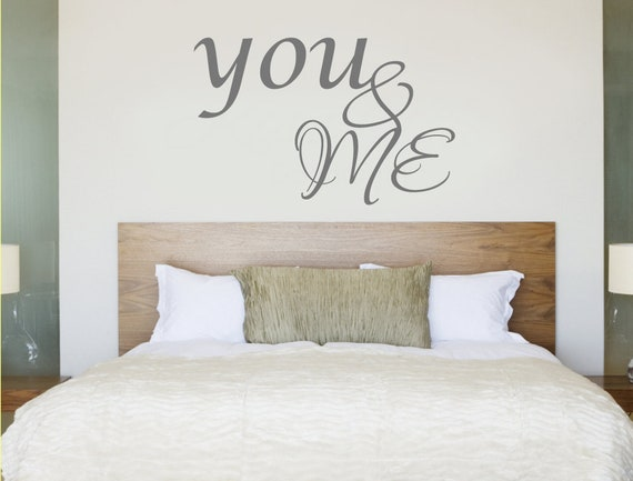 You And Me Wall Sticker Bedroom Wall Decor Romantic Wall Etsy