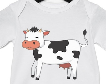 7c1aacec6 Cow - Funny Animal Infant Jersey Short Sleeved Onesie, Infant Bodysuit,  Infant One-Piece, Funny Infant Clothes