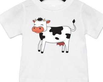 33467bd1e Cow - Funny Animal Infant Jersey Short Sleeved T-Shirt