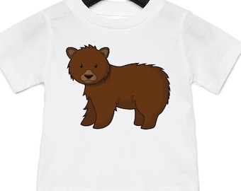 ec08e77b43 Grizzly Bear - Funny Animal Infant Jersey Short Sleeved T-Shirt