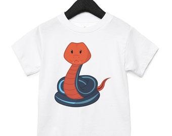 59708a84d8c5cf Snake - Toddler Short Sleeve Jersey T-Shirt, Boys Shirt, Girls Shirt