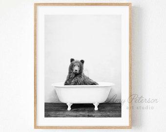 Animal Bathroom Etsy
