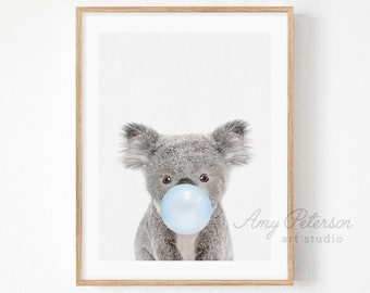 Themed Birthday Party Lovely Koala Clothes Koala with Gum Off The Shoulder Sweatshirt. Animal Off the Shoulder Sweatshirt Gifts for Mom