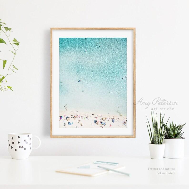 Tropical Aerial Beach Photo Turquoise Water Ocean Art image 0