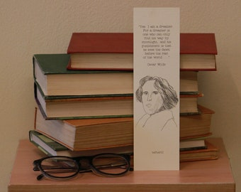 Oscar Wilde Quote Bookmark (own illustration)