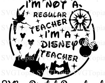 Disney Teacher Svg Etsy