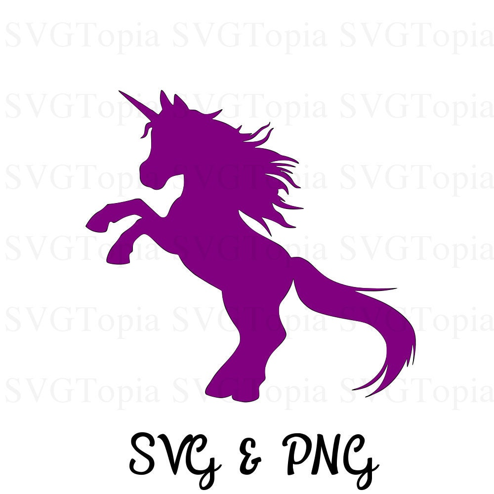 Unicorn Silhouette SVG and PNG Clip Art for Die Cut Machines like Cricut  and Silhouette Cut File