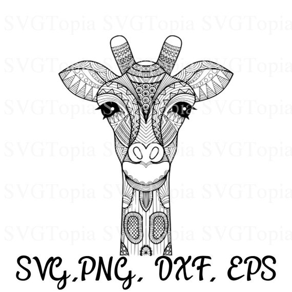 Giraffe Svg Png Eps Dxf Clip Art For Die Cut Machines Like Etsy