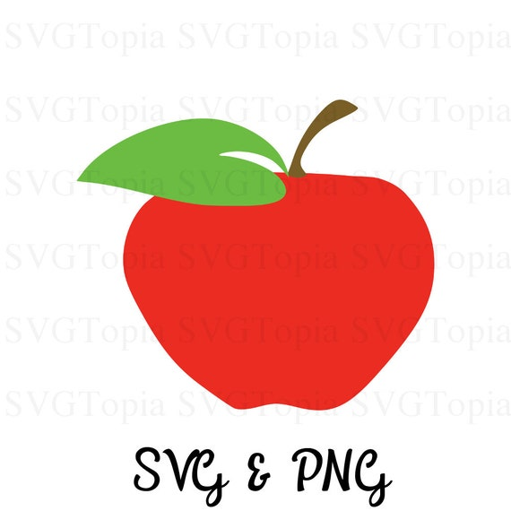 Apple Fruit Svg And Png Clip Art For Teachers For Die Cut Etsy
