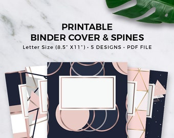 binder cover printable instant download subject cover etsy